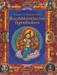 Boeddhistische symbolen T. Blau