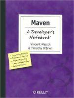 Maven a Developer's Notebook Vincent Massol