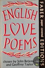 English Love Poems 9780571070657