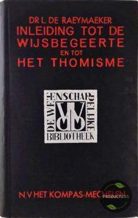 Inleiding tot de wijsbegeerte en tot het Thomisme 7423630056002