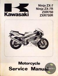 Kawasaki Ninja ZX-7, ZX-7R, ZXR750, ZXR750R : Motorcycle Service Manual 99924-1139-01 7423629384338