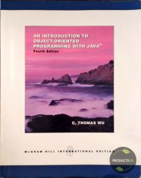 An Introduction To Object-Oriented Programming With Java 9780071116817
